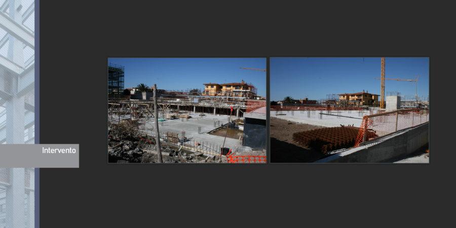 Progetto strutturale complesso scolastico Ostia Studio Pertici